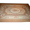 "12' X 8'10"" Fawn, Cream & Red Aubusson Carpet (Damaged)  (Y)"