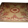 10' X 8' Fawn & Brown Rose Pattern Aubusson Carpet  (Y)