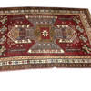 "7'6"" X 5'3"" Brown & Red Kazakchop Carpet  (Y)"