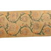 6' X 3' Beige & Green Flower Pattern Kirman Rug  (Y)