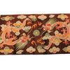 7' X 4' Brown Dragon Pattern Kirman Rug  (Y)