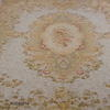 25' X 19' Green & Cream Aubusson Carpet  (Y)