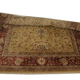 18' x  12' Gold & Rust 'Mizzapur' Lahore Carpet