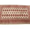 "5'2"" X 3'2"" Cream, Brown & Blue Patterned Silk Persian Rug  (Y)"
