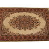 "8'x 5'6"" Cream & Tan Pattern Hamadan Rug  (Y)"
