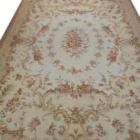 "17'8"" x  12'2"" Cream, Gold & Beige Aubusson Rose Garland & Bouquet Decor Carpet"