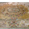 "15'6""X12' Cream French Style Flower Design Carpet  (Y)"
