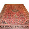 "17' X 10'6"" Salmon Pink, Cream, Blue & Blk Antique ""Mahal"" Carpet. (Y)"