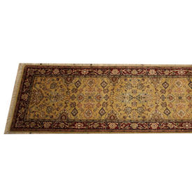 """8'3"""" x  2'7"""" Gold, Red & Black 'Mirzapur Lahore' Runner"""