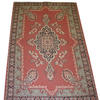 8'5 X 6' Brown & Blue Hamadan Rug  (Y)