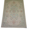 "5'9"" X 3'10"" Pale Blue & Cream Cotton Rug  (Y)"