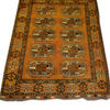 7' X 5' Black & Gold Afghan Rug  (Y)