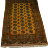 "6'7"" X 4'3"" Black & Gold Afghan Rug  (Y)"