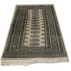 "5'6"" X 3'2"" Cream, Black & Tan Patterned Silk Persian Rug  (Y)"