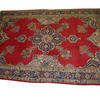 11' X 8' Red Blue & Cream Persian Style Carpet  (Y)