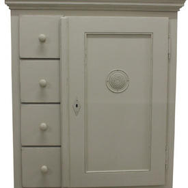 Grand 4 Drawer 1 Door Lime Circ Airhole Linen Cupboard