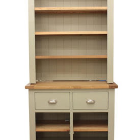Cots French Grey & Oak Open Shelf Unit