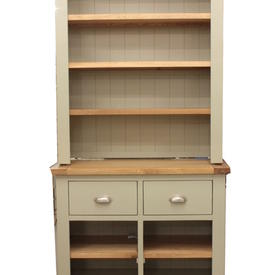 Cots French Grey & Oak Open Base Unit