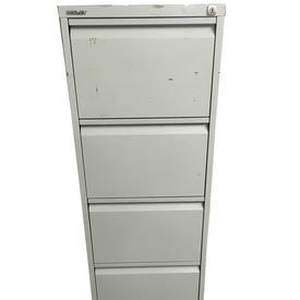 Dark Brown/Cream Silverline Metal 4 Drawer Filing Cabinet