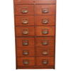 Teak 108cm X 61cm 12 Drawer Index Cabinet