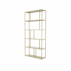 Large Gold ''Aero'' Shelf Unit