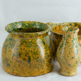 Yellow & Green Pottery