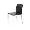 Cast Ali & Black Leather 'ds716' Dining Chair