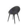 Black Rock Back Plastic Chair