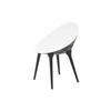 Black & White Rock Back Plastic Chair