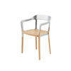 Steelwood Galvanised & Beech Dining Chair