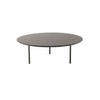Large Circ. 2 Tone Brown Lacq. 'etoile' Coffee Table (90cm X 31cm H)