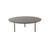 Large Circ. 2 Tone Brown Lacq. 'etoile' Coffee Table (90cm X 31cm H)