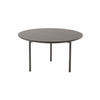 Medium Circ. 2 Tone Brown Lacq. 'etoile' Coffee Table (65cm X 36cm H)