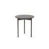 Circ. 2 Tone Brown Lacq. 'etoile' Lamp Table (38cm X 40cm H)