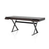 Rectangular Grey Oak Writing Desk On Graphite Legs (65cm X 180cm X H73cm)