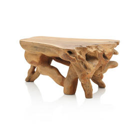 Large Rect Solid Teak Root Coffee Table