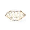 Gold Wire Sunburst Coffee Table With White Marble Top (86cm  X 37cm H)