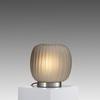 Smoke Grey Ribbed Glass Mannakara Table Lamp