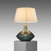 Large Green Pottery Table Lamp