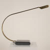 Brass Curved Desk Lamp With Grey Metal Base