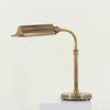 Antique Burnished Brass Industrial Desk Lamp With Trough Shape Shade (Y)