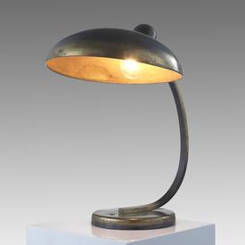 Brass And Black Swan Neck Retro Desk Lamp