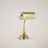Brass Directors Desk Lamp With Brass Trough Shade