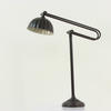 Brown Metal Anglepoise Desk Lamp With Pattern Shade (Y)