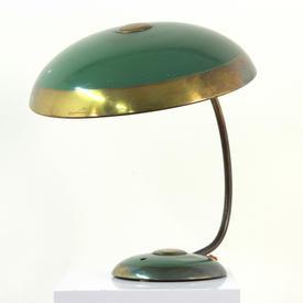 Brass And Green Ornamental Retro Saturn Desk Lamp