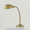 Brass Flex Arm Desk Lamp With Shell Top