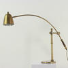 Brass Desk Lamp With Large Sweeping Angle Arm