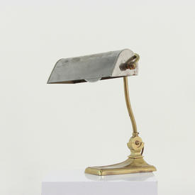 Brass And Silver Directors Desk Lamp