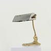 Brass And Silver Directors Desk Lamp  (Y)