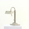 Silver Swan Neck Desk Lamp